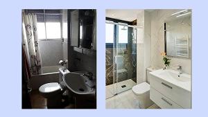 el antes y después de una reforma de baño en Zaragoza